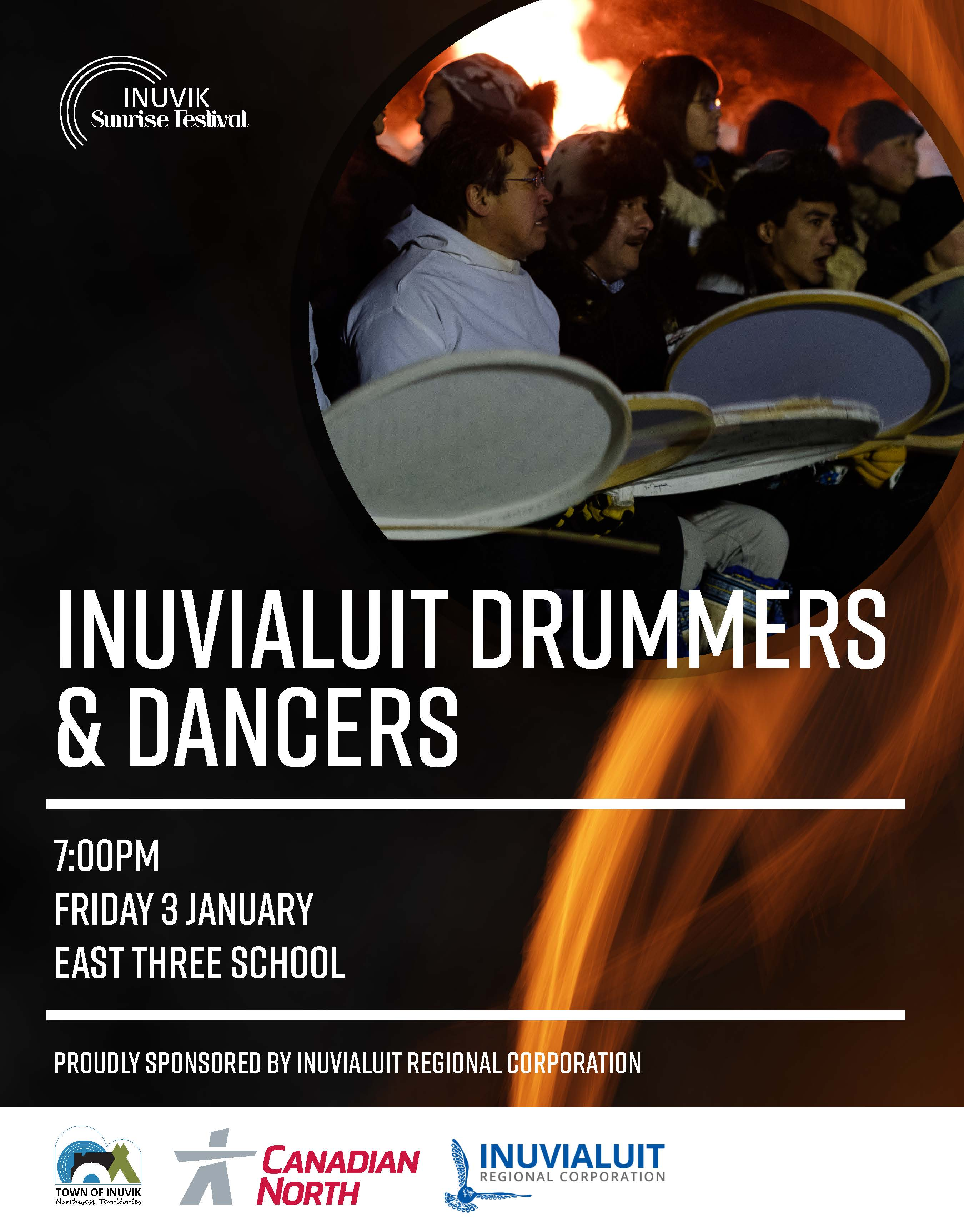 Inuvialuit Drummers & Dancers Poster