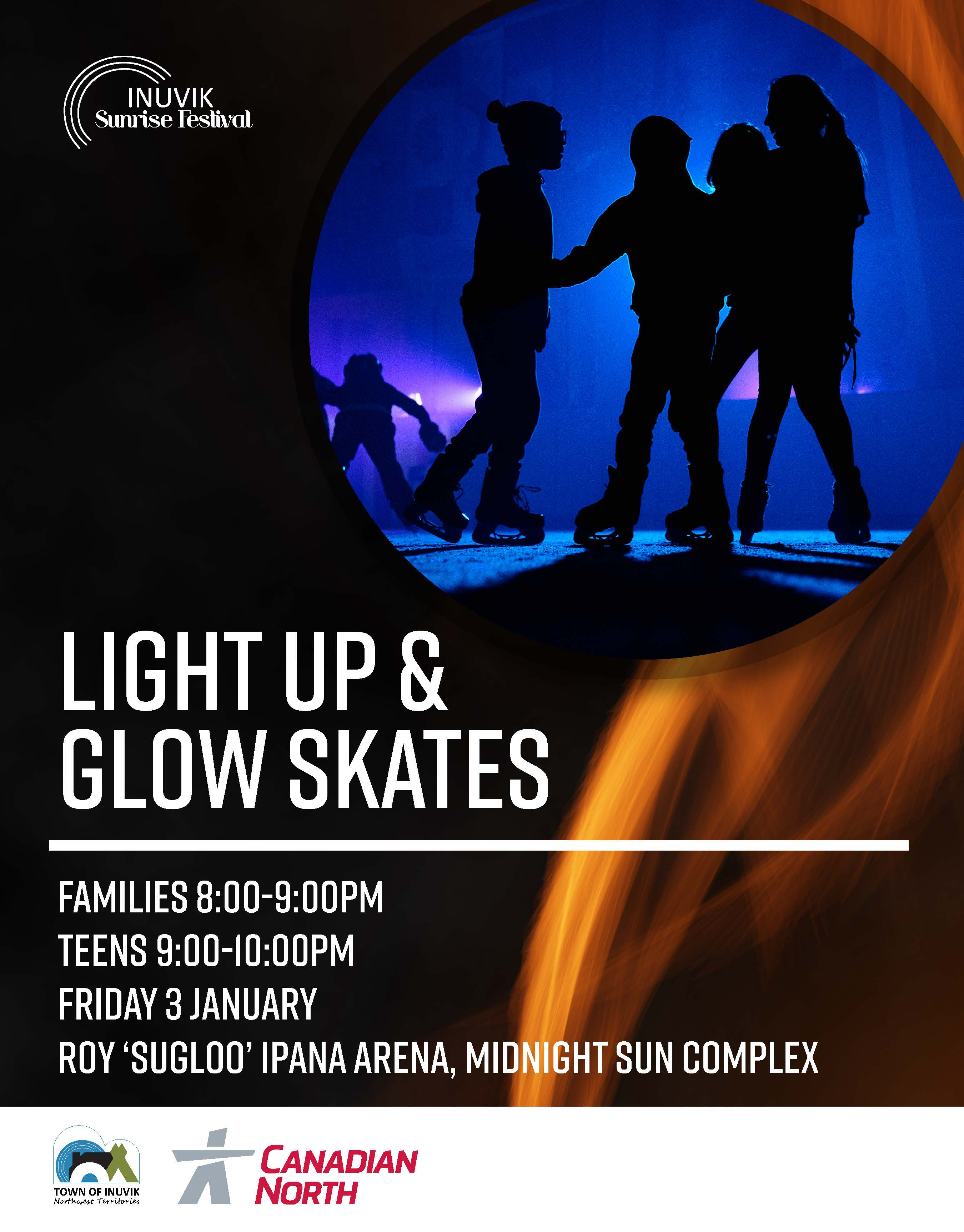 Light Up & Glow Skate Poster