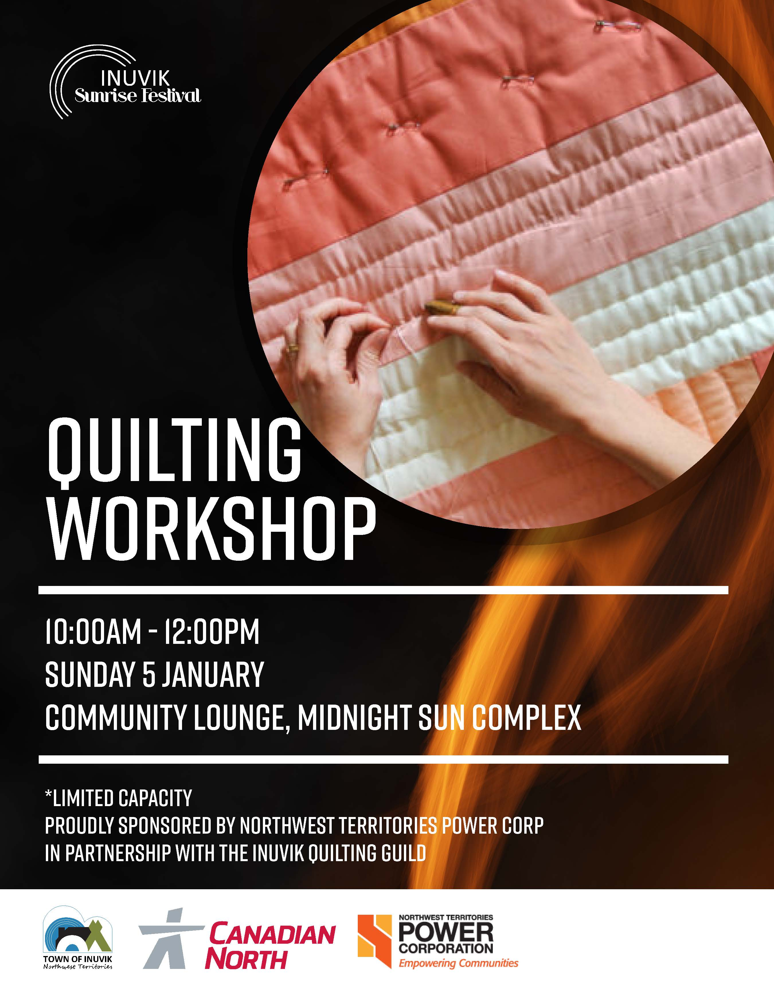 Quilting Workshop Poster