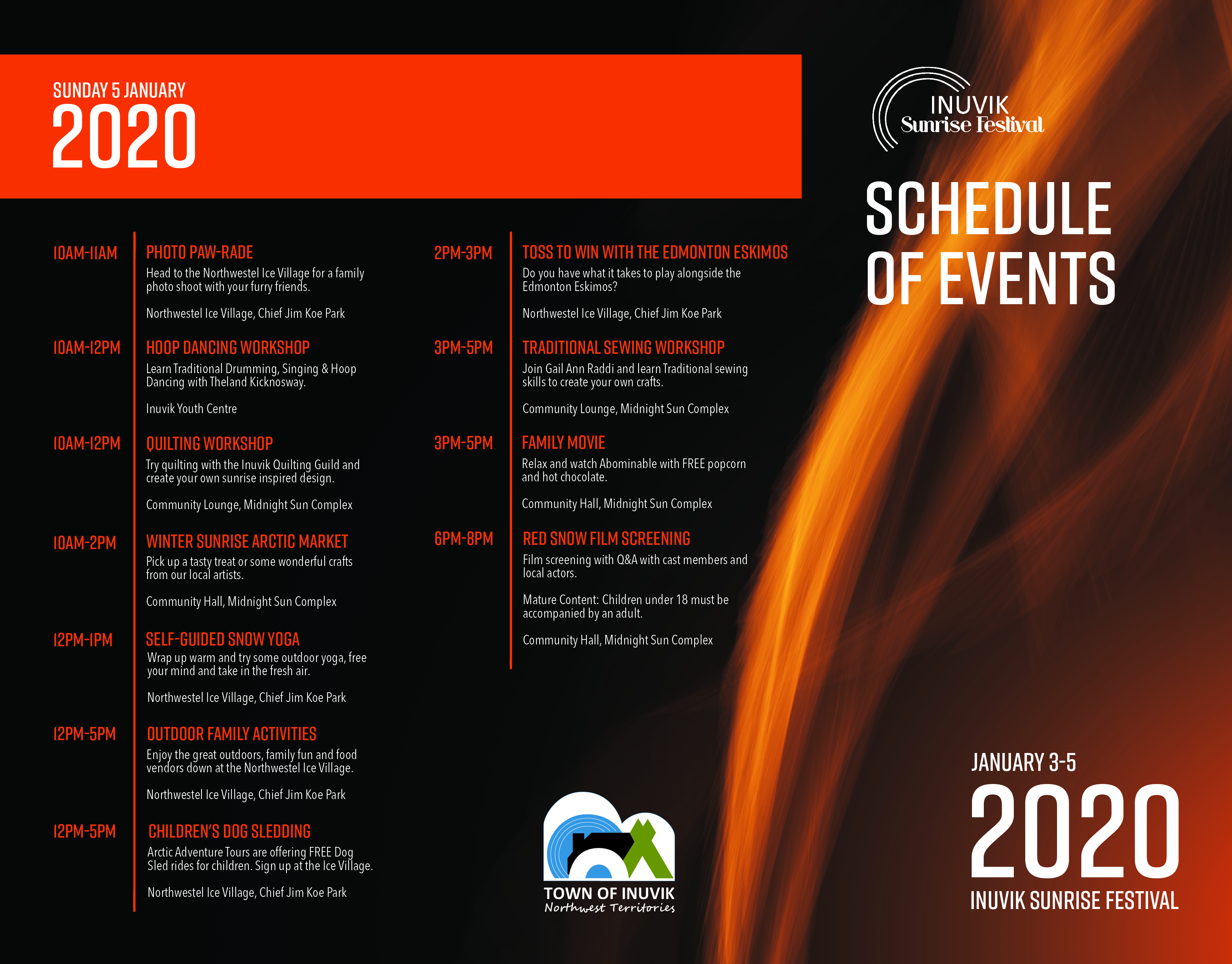 Schedule of Events Page Two