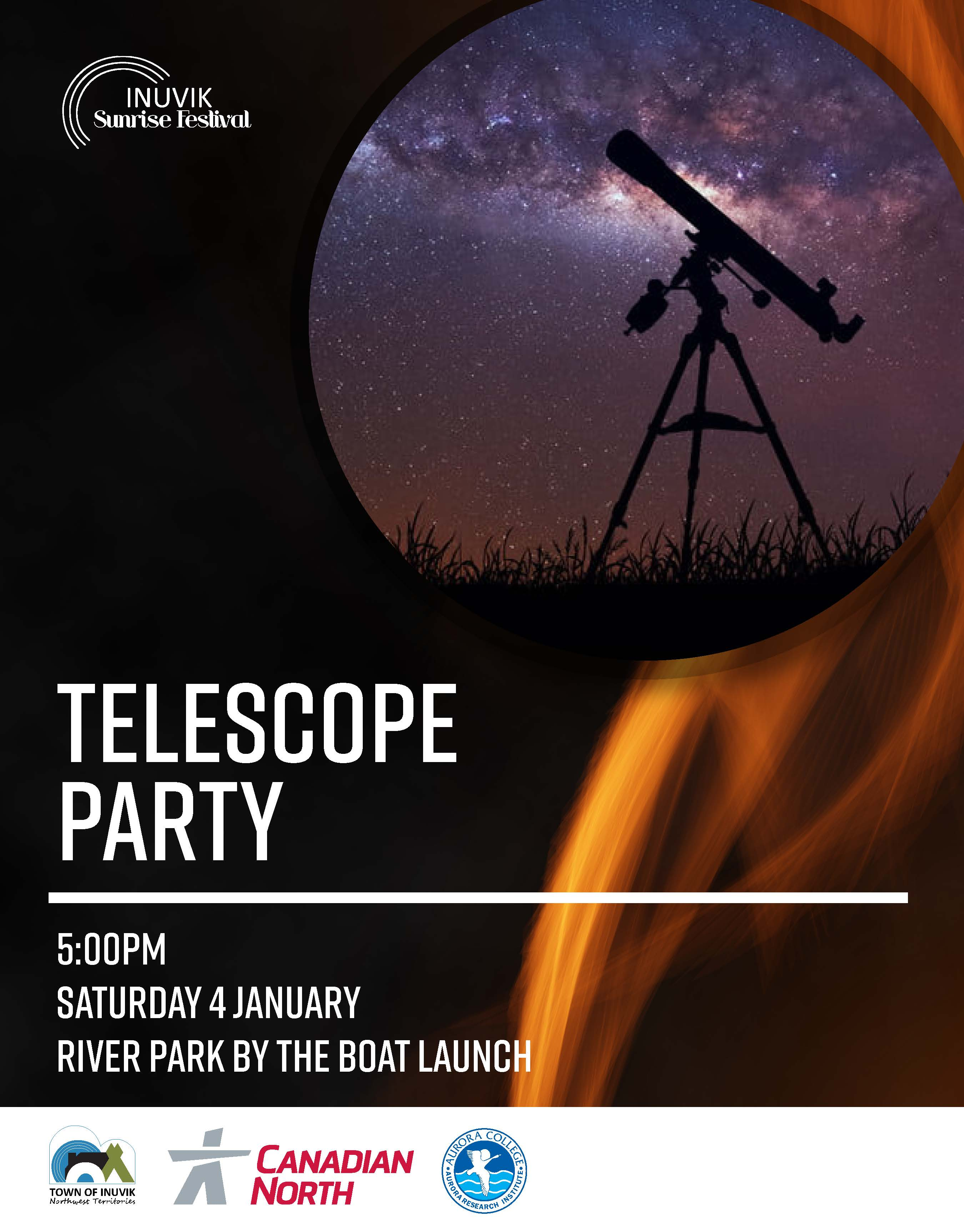 Telescope Party Poster