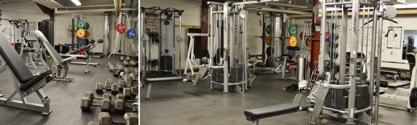 Inside the Midnight Sun Complex's Fitness Centre.