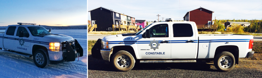 Town of Inuvik by-law trucks.